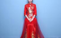 【送精美发饰】中式秀禾服喜服婚礼结婚礼服敬酒服旗袍