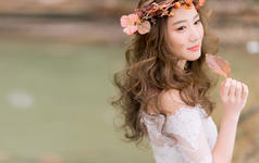唯美韩式系列婚纱照 森系婚纱照锐冰外景定制