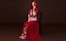 华芬嫁衣 原创中式嫁衣 手工盘金刺绣凤仙装