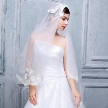 金针银线新娘头纱2016新款韩式蕾丝刺绣羽毛3米超长拖尾婚纱
