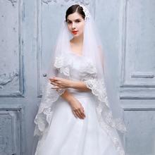 2016新款韩式车骨蕾丝花边珠绣闪光钻饰新娘结婚头纱2.8米