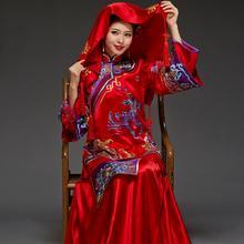 华芬嫁衣-结婚民国古装旗袍 喜服婚纱 刺绣新娘秀禾服中式嫁衣
