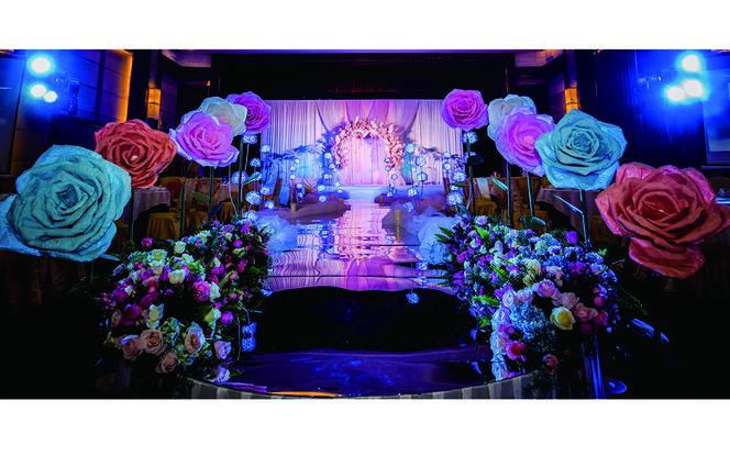 艾丽婚礼丰乐园酒店 大型纸艺花婚礼赠花车一套