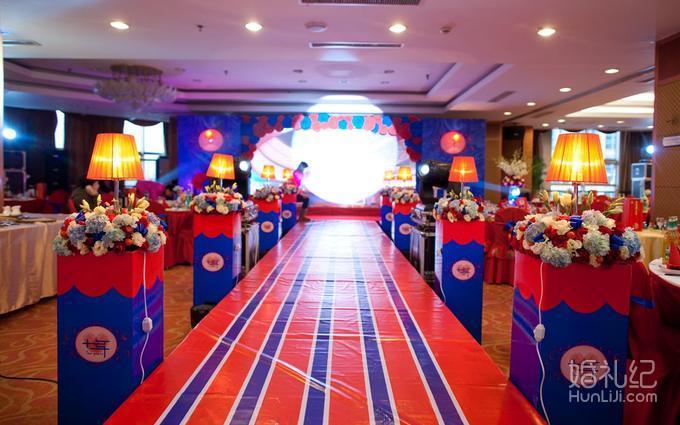 【鹏远婚庆】红蓝撞色中型婚礼策划套餐