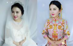 初心中式秀和褂群套系婚纱+中式礼服+伴娘服四件套