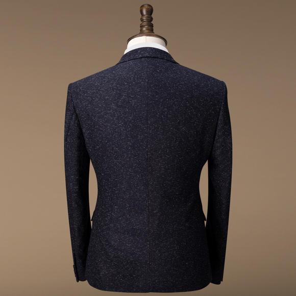 【三件套】西服套装冬男士英伦新郎结婚礼服婚礼三件套修身西装