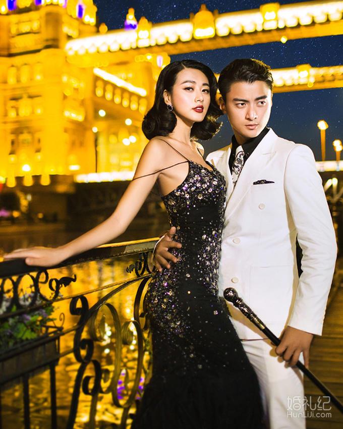 【香港卓美】时尚达人浪漫夜景送烟花拍摄