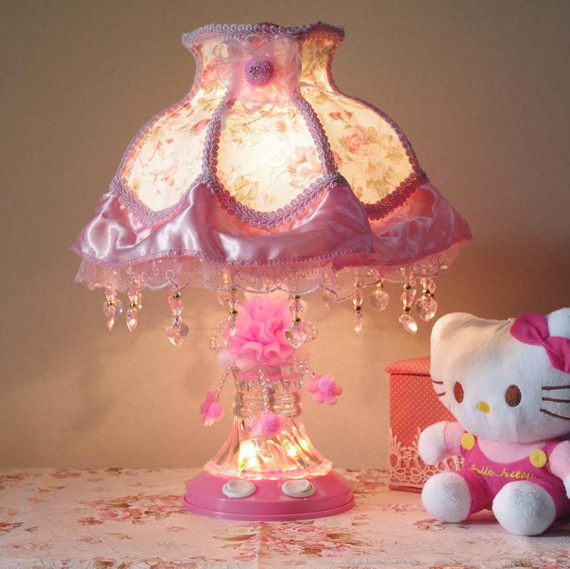 温馨欧式田园蕾丝公主台灯卧室床头台灯