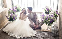 【茜茜公主】送拍摄当天  新娘鲜花造型