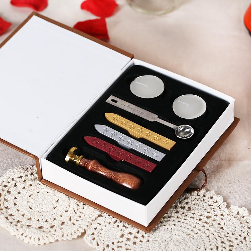 婚庆囍字火漆套装创意复古喜印双喜字印章信封口封印结婚用品