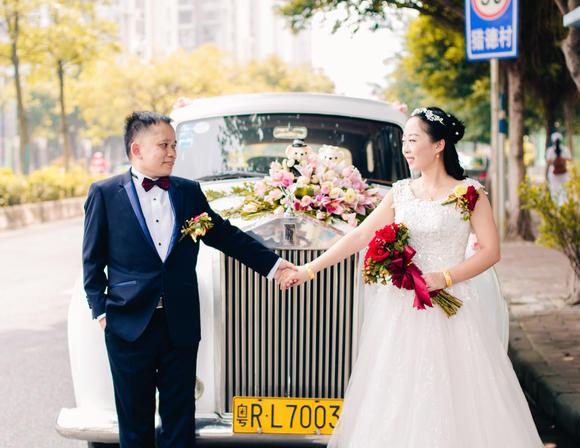 广州沙面玫瑰园餐厅婚礼跟拍 感人的爱情
