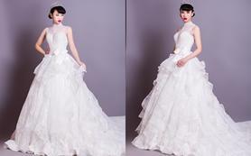 国际国内一流品牌婚纱婚纱礼服跟妆租赁套餐6380