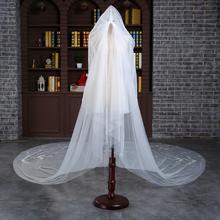 新款长新娘头纱软纱结婚头饰韩式简约头纱3米婚纱拖尾配饰品