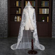 新娘结婚头纱超长婚礼配饰奢华披纱韩式大拖尾头纱婚纱新款