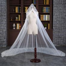 新款 新娘结婚头纱婚纱韩式高贵优雅贵族结婚纯白超长3米拖尾