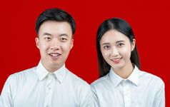 【蔷薇图片社】标准结婚证件照