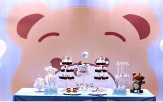 艾乐薇翻糖订制—宝宝百日 周岁甜品台