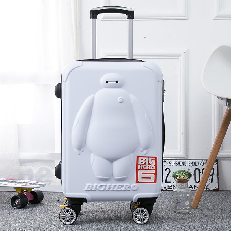 大白拉杆箱万向轮女24寸行李箱20寸儿童卡通可爱旅行箱
