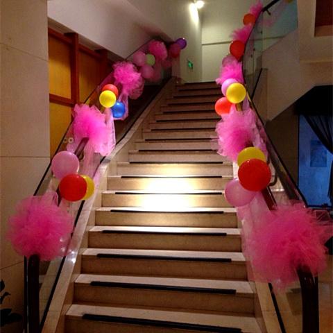 创意纱曼婚房婚车布置纱幔楼梯扶手雪纱婚礼装饰道具