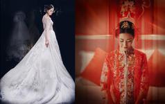 【 超值租赁三件套】手工刺绣龙凤褂+主婚纱+礼服