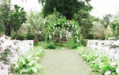 【梓塘婚礼】非诚勿扰白绿森系清新户外婚礼定制婚礼