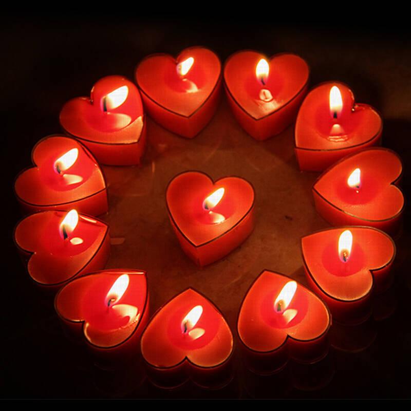 ding 求婚表白蜡烛50支装 摆造型 包邮