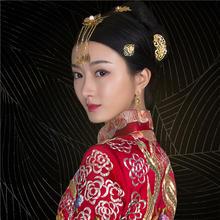 华芬嫁衣 原创中式嫁衣 玫瑰花瓣裙褂 龙吐海水龙凤褂手绣定制