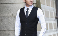 【男士礼服】英伦修身西装马甲男士西服马夹背心商务休闲职业正装