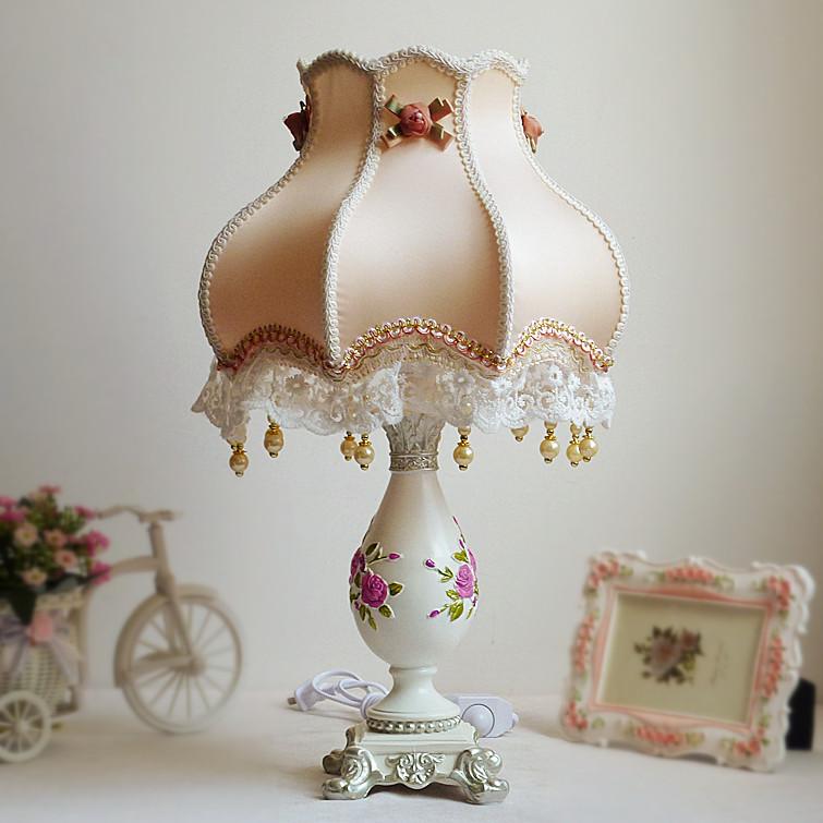 田园欧式现代装饰灯婚庆台灯婚房创意床头灯公主结婚