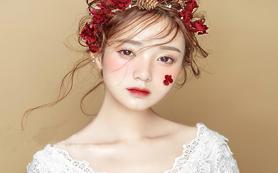 约橙【总监】全程跟妆+婚纱+出门服+敬酒服送亲妆
