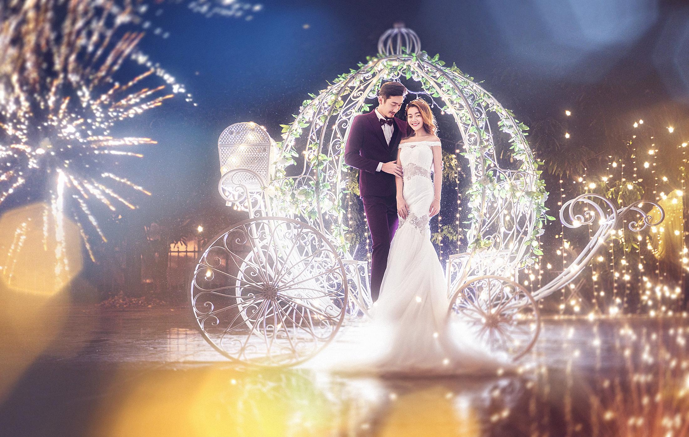 三亚星空夜景婚纱艺术照