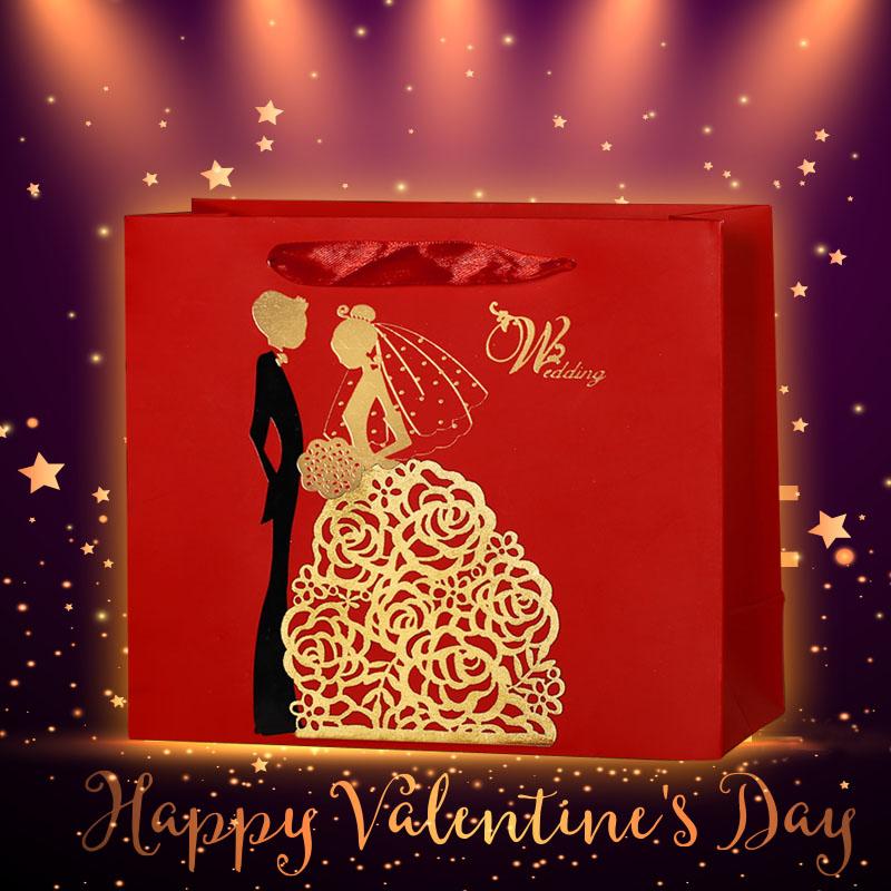 批发创意中国风礼品袋结婚庆婚礼手提袋 欧式回礼大号