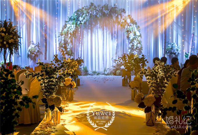签到桌鲜花装饰 签到桌清新布艺,森系道具点缀   仪式区 仪式舞台地台