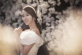 波西米亚韩式时尚内景婚纱照
