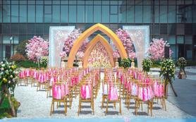 【鹏远婚庆】酒店露台 室外创意全鲜花高端婚礼