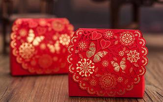 烫金喜糖盒(购喜糖,送糖盒,免费装盒)