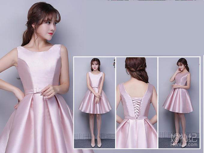 秀尔婚纱—短款蓬蓬伴娘裙
