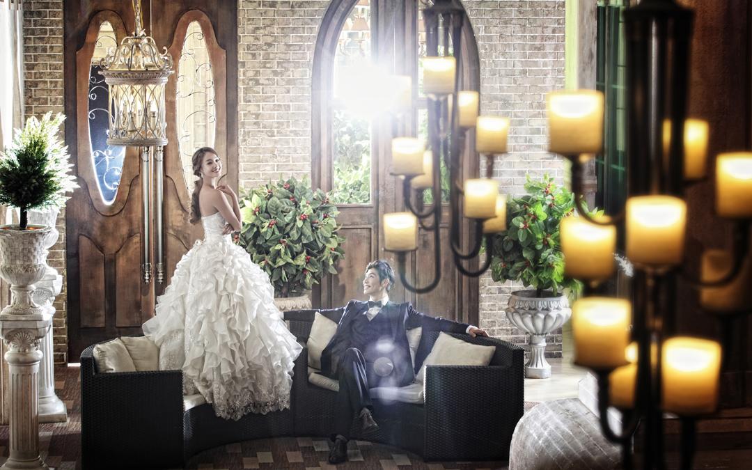 欧式城堡婚纱照