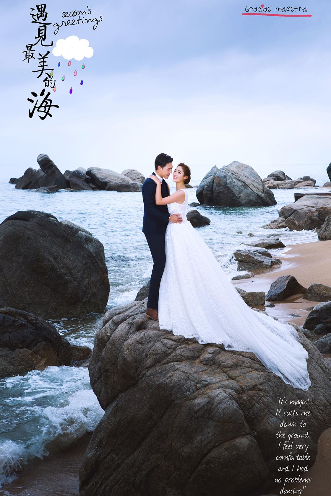 纪实海岛婚纱艺术照