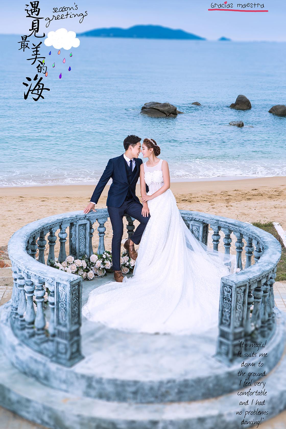 纪实海景婚纱摄影照
