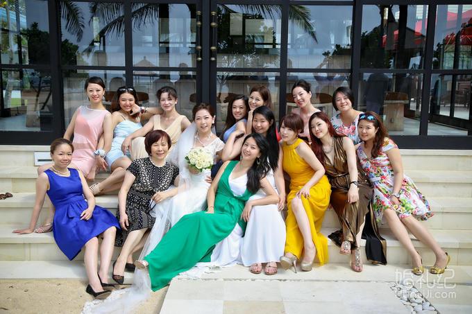乐惟海外婚礼重庆店,巴厘岛皇家兰花水上婚礼
