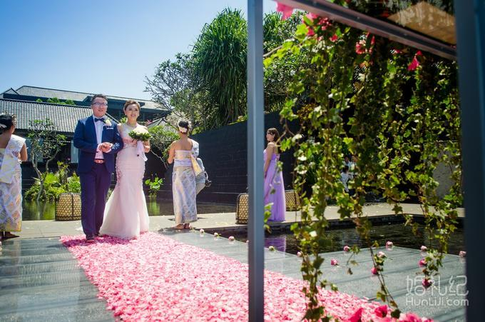 巴厘岛宝格丽水上平台婚礼之一,乐惟海外婚礼重庆店