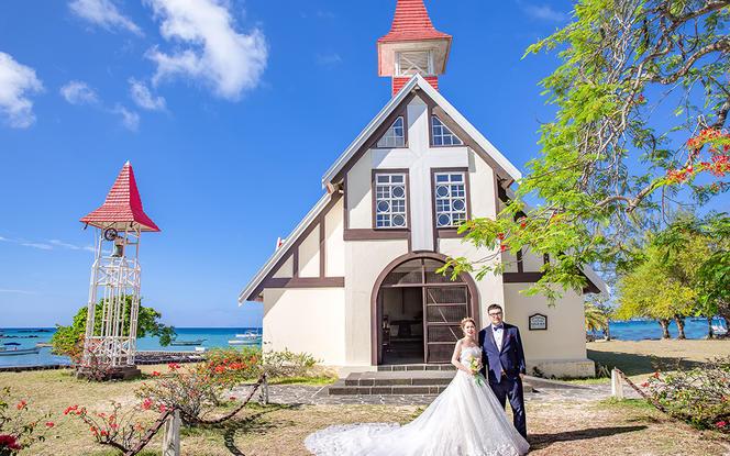 海外毛里求斯婚纱照摄影本地包车包午餐蜜月旅拍