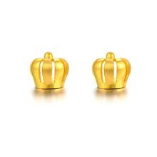 中国黄金 冠帽耳钉3.3g