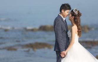 广西自由旅拍婚照5服5造一天防城港一天南宁