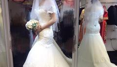 试穿了三套主婚纱 款款都很惊艳好难选!