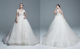 逸品定制EC605 复古公主蓬裙梦幻蕾丝珠绣婚纱