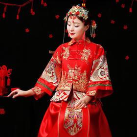 【新款】秀禾服新娘结婚中式礼服敬酒服秀和服龙凤褂f1