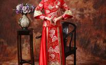 新娘红色中式结婚礼服敬酒服