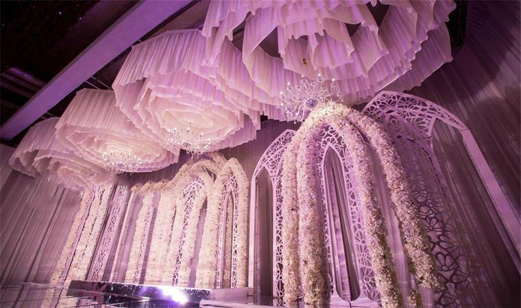 【婚礼印象】悠然淡紫风情婚礼布置